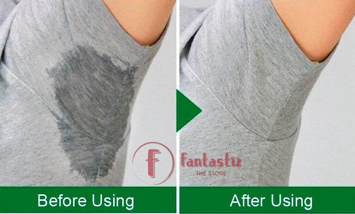 Underarm Sweat Pads before vs after
